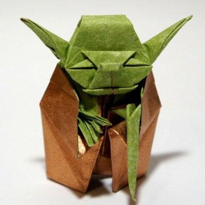 Origami Jedi Master Yoda - Star Wars