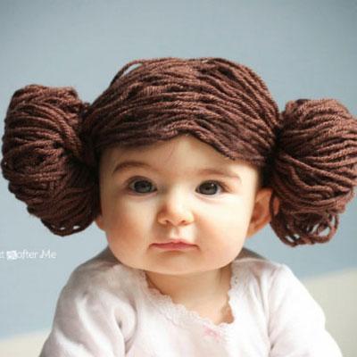 Princess Leia yarn wig - Star Wars costume