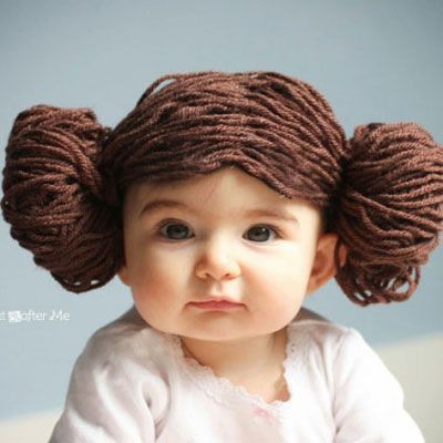 Princess Leia yarn wig - Star Wars costume