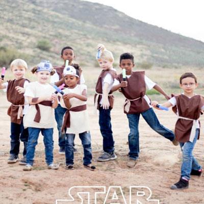 Simple no sew Jedi costumes (Star Wars)