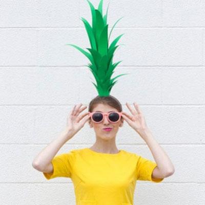 DIY last minute pineapple costume