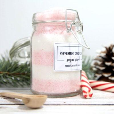 DIY Candy cane sugar scrub - Christmas gift idea