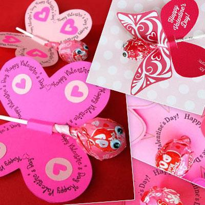 Printable lollipop butterflies and flowers