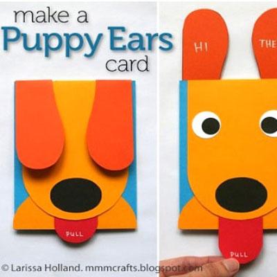 DIY Funny puppy ears card