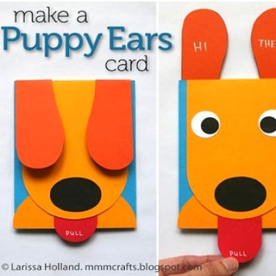 DIY Funny puppy ears card