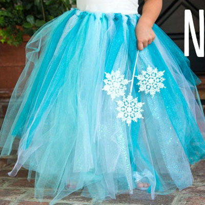 DIY no-sew Elsa (frozen) tutu -  costume