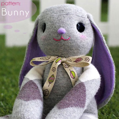 Adorable DIY lop eared sock bunny