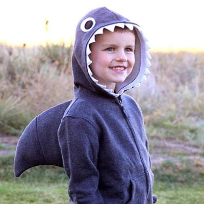 Simple halloween shark costume with fin