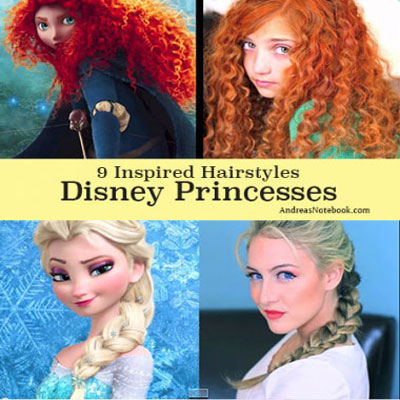 9 different Disney princess hairstyle (with video tutorials)