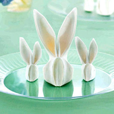 Easter bunny napkin - napkin folding