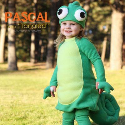 Pascal (chameleon) costume - Disney (Tangled)