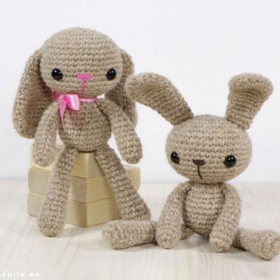 Crocheted (amigurumi) bunny