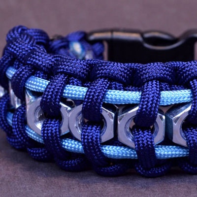 Hex nut paracord survival bracelet