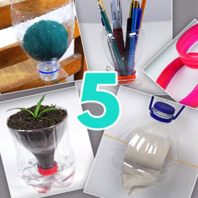 5 different craft idea with plastic bottles ( repurposing )
