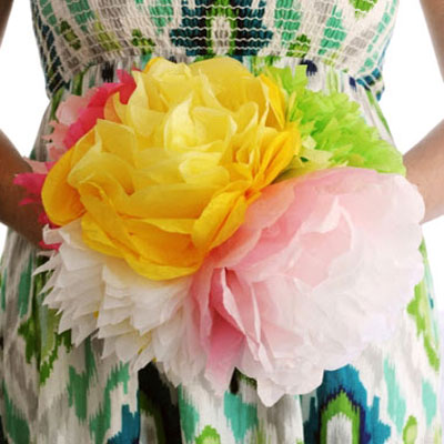 Tissue paper flowers (with 4 different petal pattern)