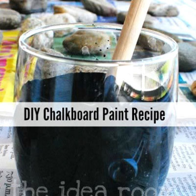 DIY homemade chalkboard paint