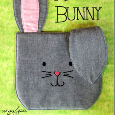 Bunny hot pad / trivet ( with sewing pattern )