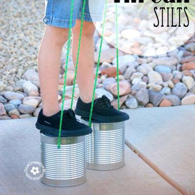 DIY classic tin can stilts