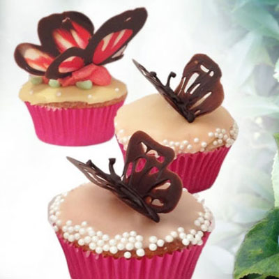 DIY easy chocholate butterfly cake decoration