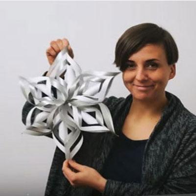 3D Paper snowflake ornament - easy DIY winter decor