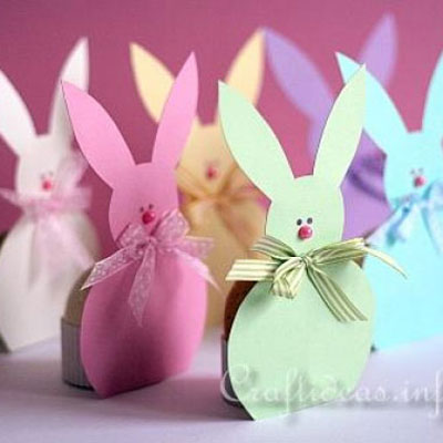 Adorable bunny easter egg holders (with template)