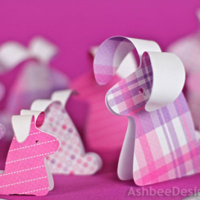 DIY easy paper droopy ear bunnies - with template