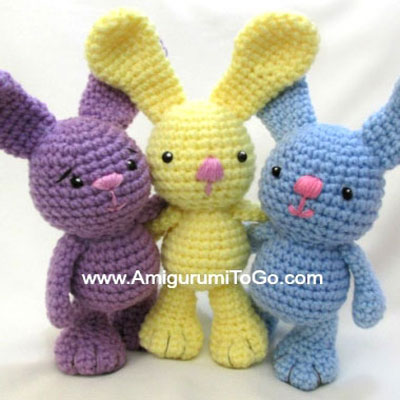 DIY crocheted ( amigurumi ) bigfoot bunnies