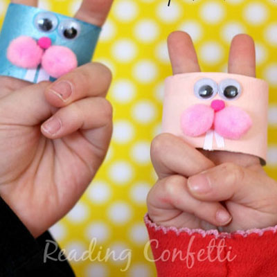 Easy bunny finger puppets