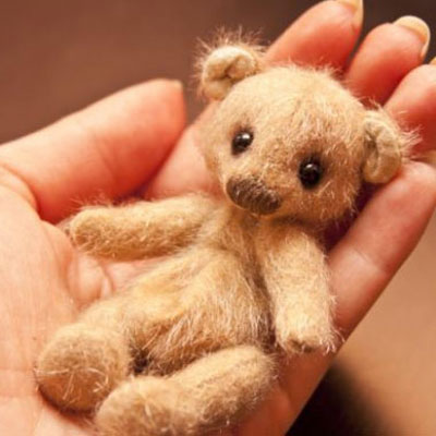 DIY Adorable miniature teddy bears ( with pattern )