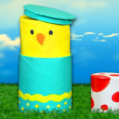 DIY stackable easter egg gift box from toilet paper rolls