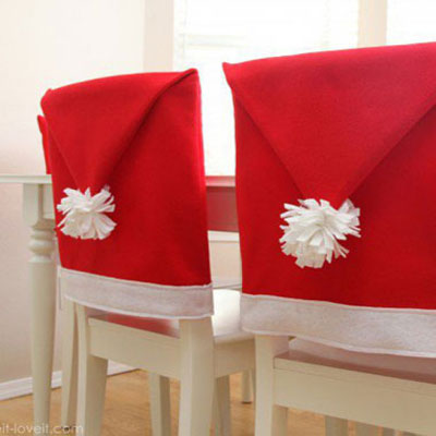 Santa hat chair covers - free sewing pattern