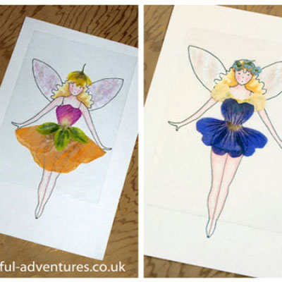 DIY Flower fairy dress up doll (with cnageable outfits)