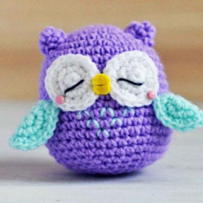 Crocheted ( amigurumi ) owl - Mr.Murasaki
