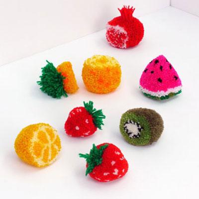 DIY Pom pom fruits