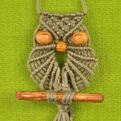 DIY macrame owl necklace ( pendant )