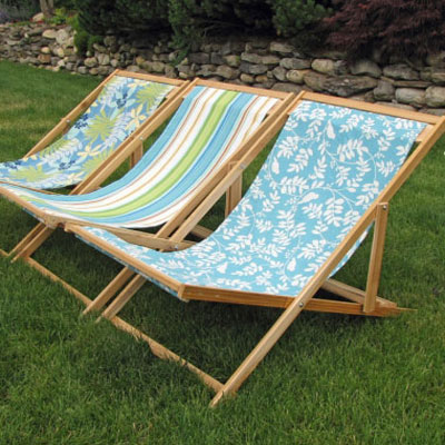 DIY wooden folding sling chair - beach chair