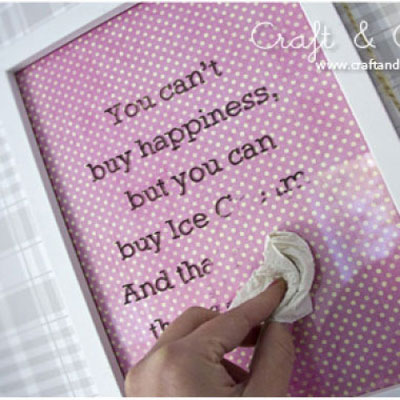 DIY earasable message board from old photo frame
