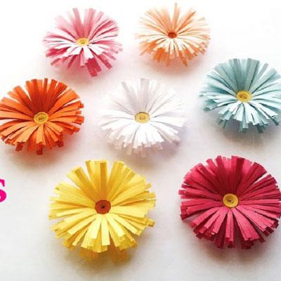 DIY easy paper daisies - paper spring flowers