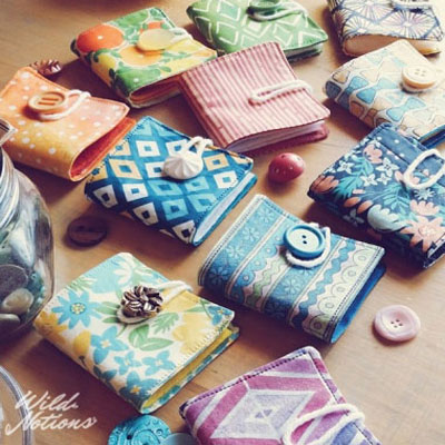 Fabric and felt needle books