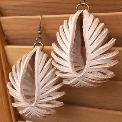 DIY transformable leather sculpted earrings